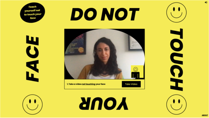 A screenshot of the Do Not Touch Your Face website