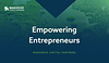 Website thumbnail for a capital venture firm. White text over a green radient landscape image covers the homepage.