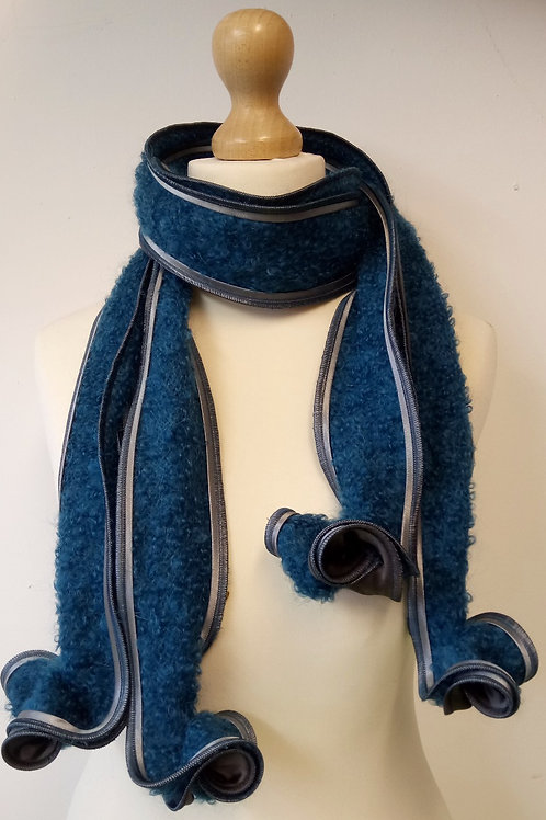 blue scarf wool