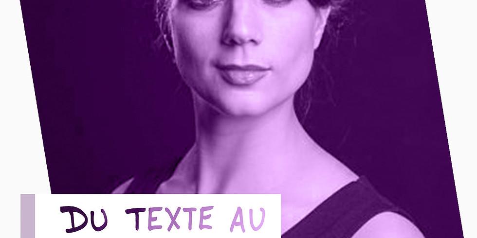 """Atelier d'impro en ligne : """"Du texte au sous-texte"""""""