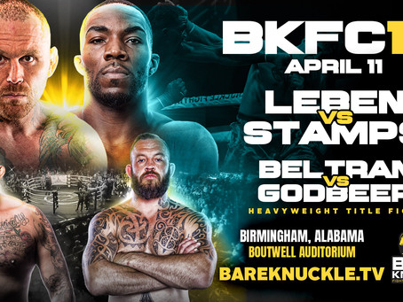 Chris Leben & Former University of Alabama Linebacker Marcel Stamps Square Off in BKFC 12 Main Event