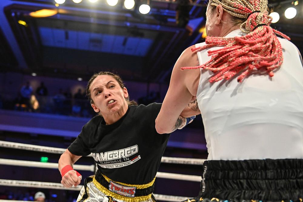 Jenny Savage defeats Sheena Brandenburg - Photo by Phil Lambert for Bare Knuckle FC