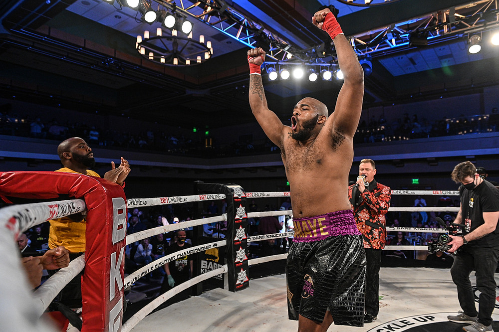 Arnold Adams defeats Bobo O'Bannon at BKFC 16 - Photo by Phil Lambert for Bare Knuckle FC