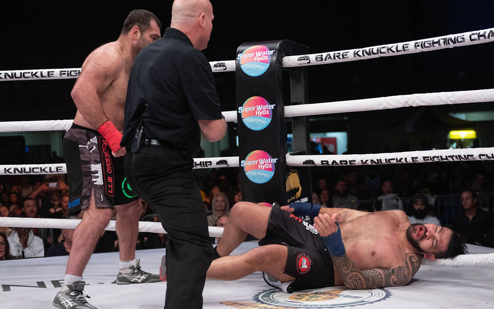 Gabriel Gonzaga knocks out Antonio 'Bigfoot' Silva in BKFC 8 main event - Photo by Phil Lambert for BKFC