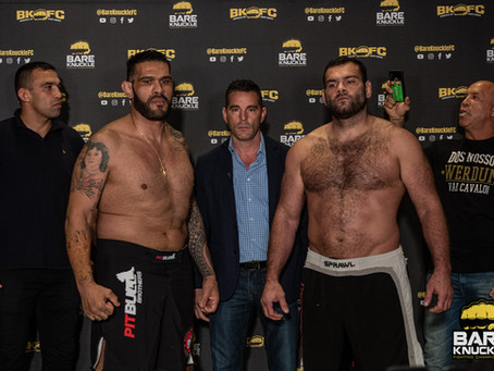 BKFC 8 weigh-in results - Bigfoot Silva vs. Gabriel Gonzaga