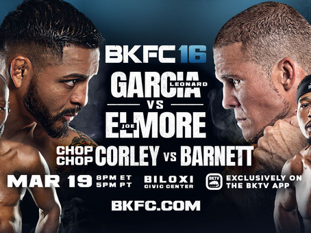 Bare Knuckle FC returns to Biloxi, MS with BKFC 16 on Friday, March 19