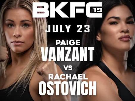 Paige VanZant meets Rachael Ostovich at BKFC 19 on July 23