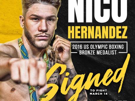 2016 U.S. Olympian and Bronze Medalist Nico Hernandez signs with BKFC