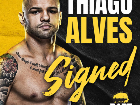 Thiago Alves signs with Bare Knuckle Fighting Championship, debuts this Spring