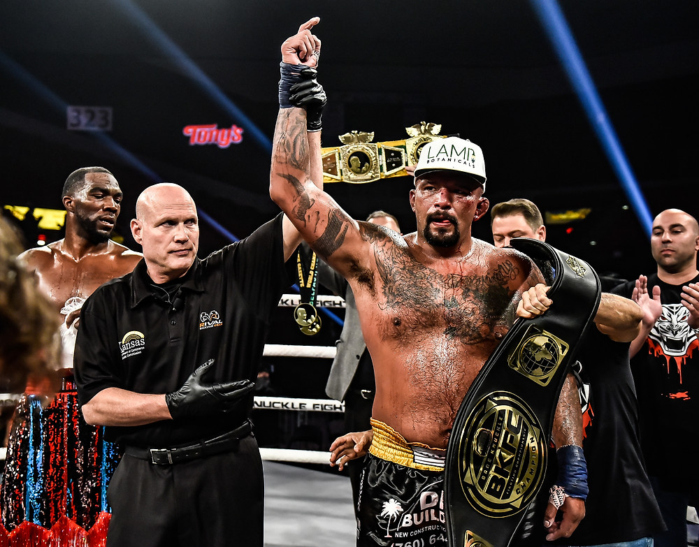 Joey Beltran victorious at BKFC 13 - Photo by Jerry Chavez for Bare Knuckle FC