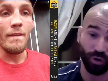 VIDEO:  Artem Lobov and Jason Knight - Face to Face