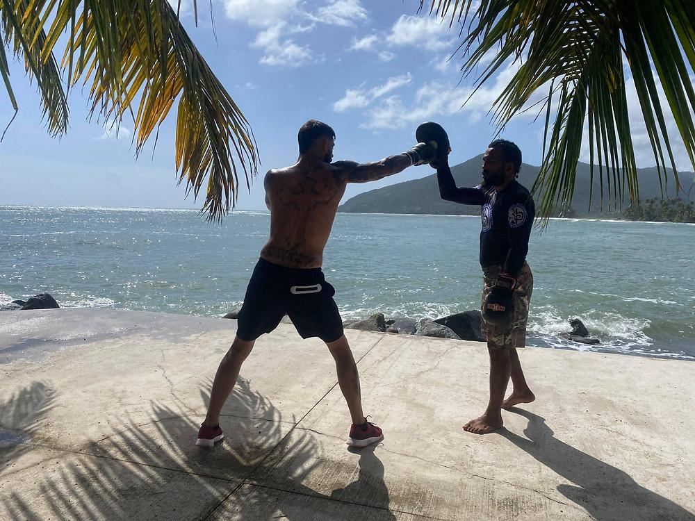 Brandon Lambert training with Elvin Brito - Photo from Facebook