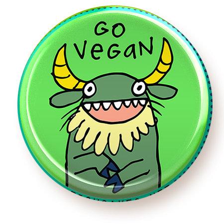 Vegan - button
