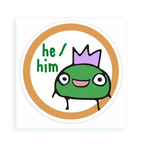 He / Him - sticker
