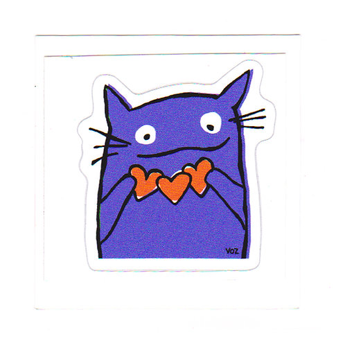 Cat Hearts - sticker