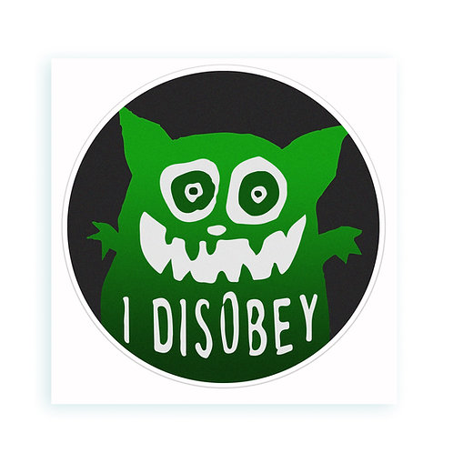 Disobey - sticker