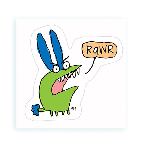 Rawr - sticker