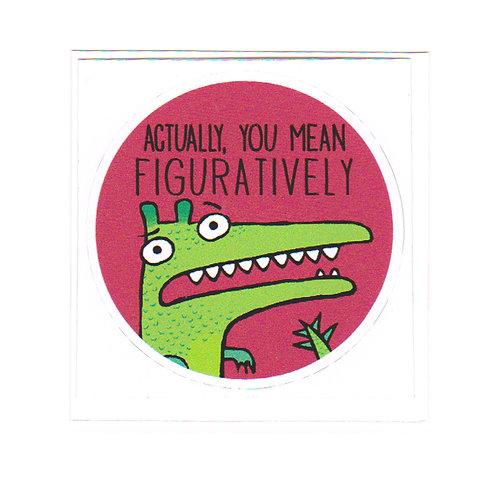 Figuratively - sticker
