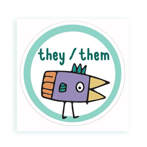They / Them - sticker