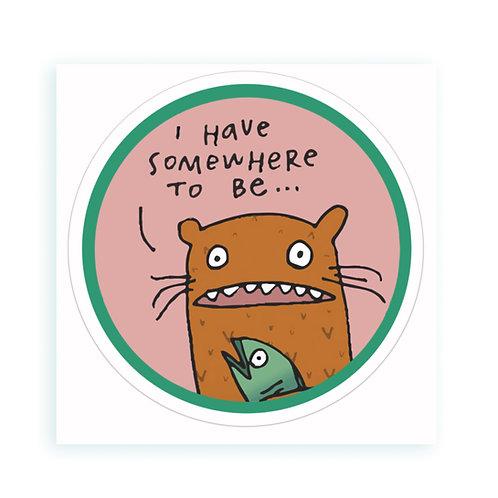 Busy Bear - sticker