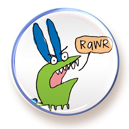 Rawr - button