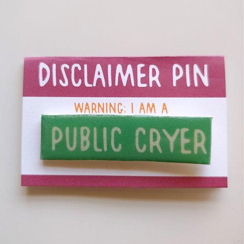 Disclaimer: Public Cryer