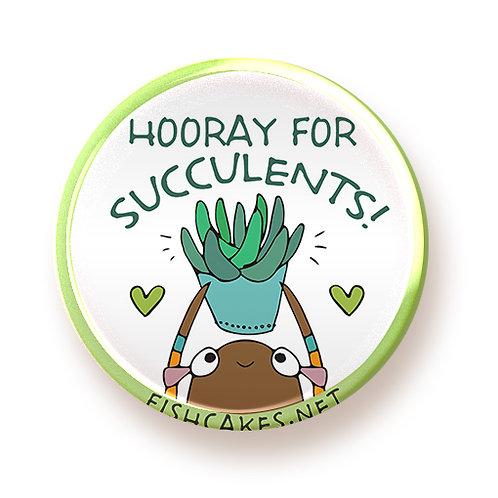 Succulents - button