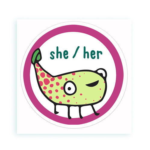 She / Her - sticker