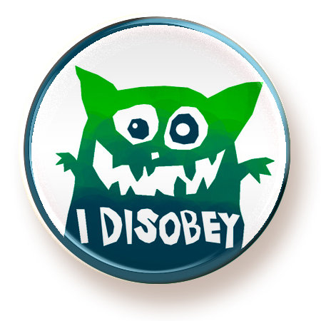 Disobey - button