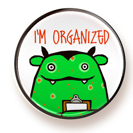 Organized  - button