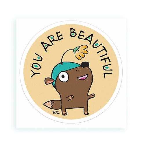Beautiful - sticker
