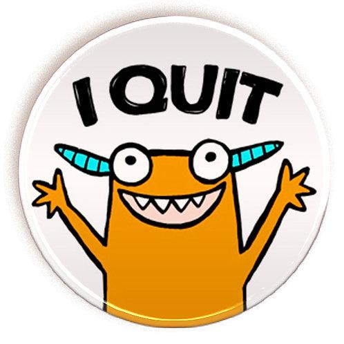 Quit - magnet