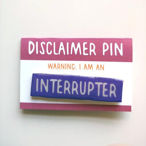 Disclaimer: Interrupter