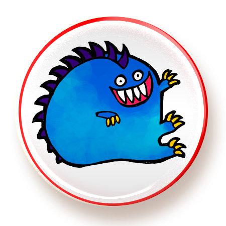 Fat Blue Monster - magnet