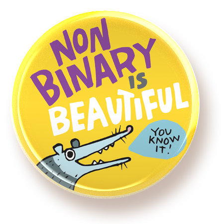 Non Binary is Beautiful - magnet