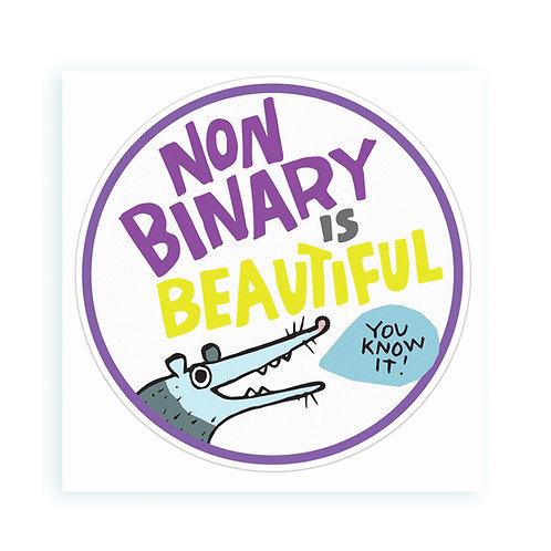 Non Binary is Beautiful - sticker