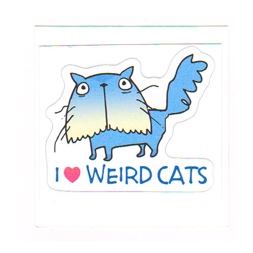 Weird Cats - sticker