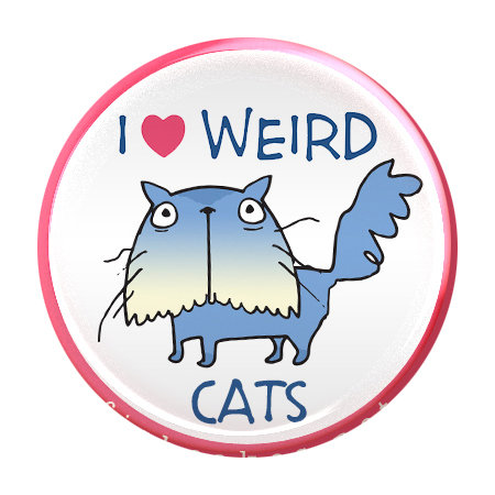 Weird Cats - magnet