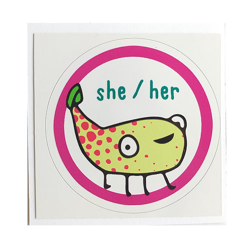She / Her - sticker