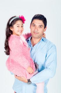 Sesión de fotografías padre e hija