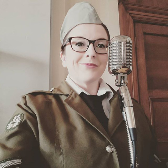 _Betty Spitfire_ reporting for duty at the HMS Nelson D-Day Veterans Dinner _#vintagesinger #wartime #veterans #hmsnelson #navy #forcessweet