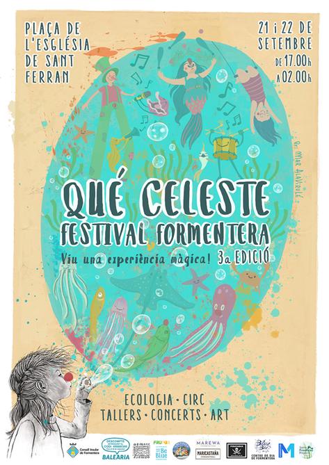 Cartel Que Celeste Festival Formentera