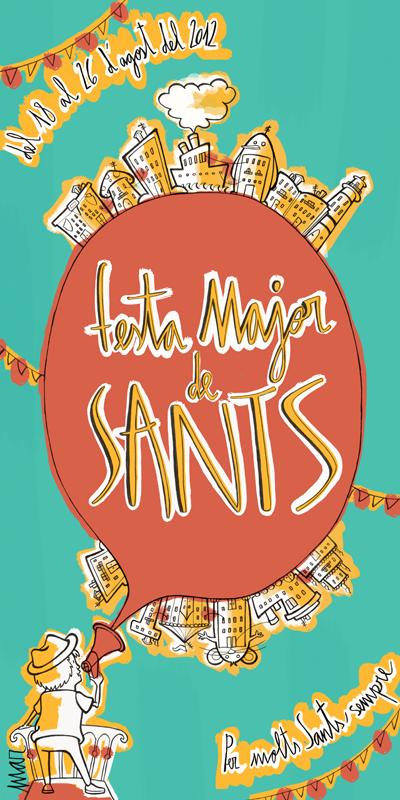 diseño-ilustracion-Cartell Festes de Sants