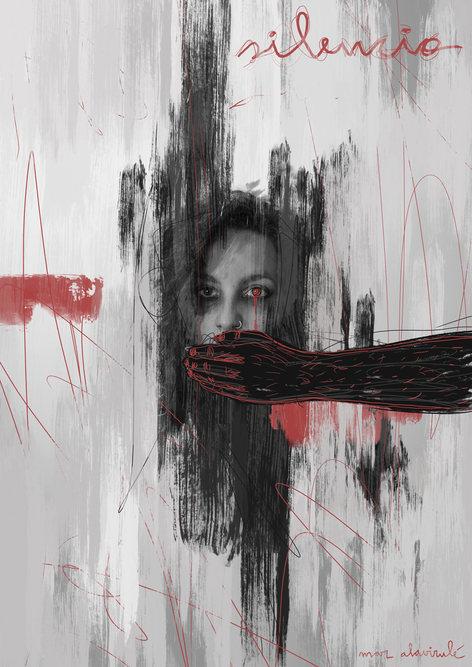 SILENCIO-Mixed Media-Collage Digital-Mar Callejón-Mar AlaVirulé