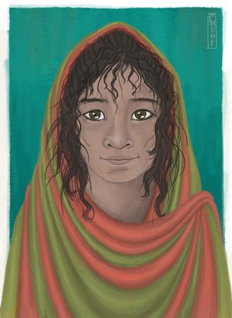 ilustración-Niña Saharaui