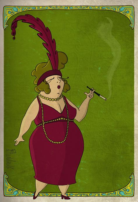 ilustración-Los Sofisticados Años 30