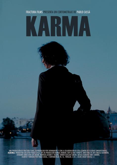 Diseño Cartel cortometraje KARMA