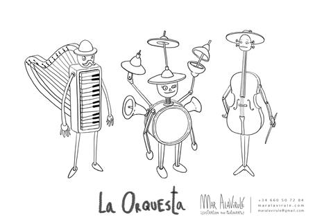 Orquesta-diseño de personajes_mar alavirule