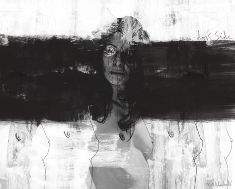 DARK SIDE-Mixed Media-Collage Digital-Mar Callejon-Mar AlaVirule