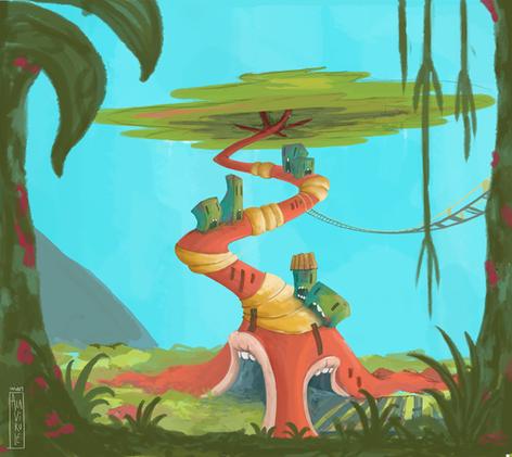 ilustración-Casa Árbol